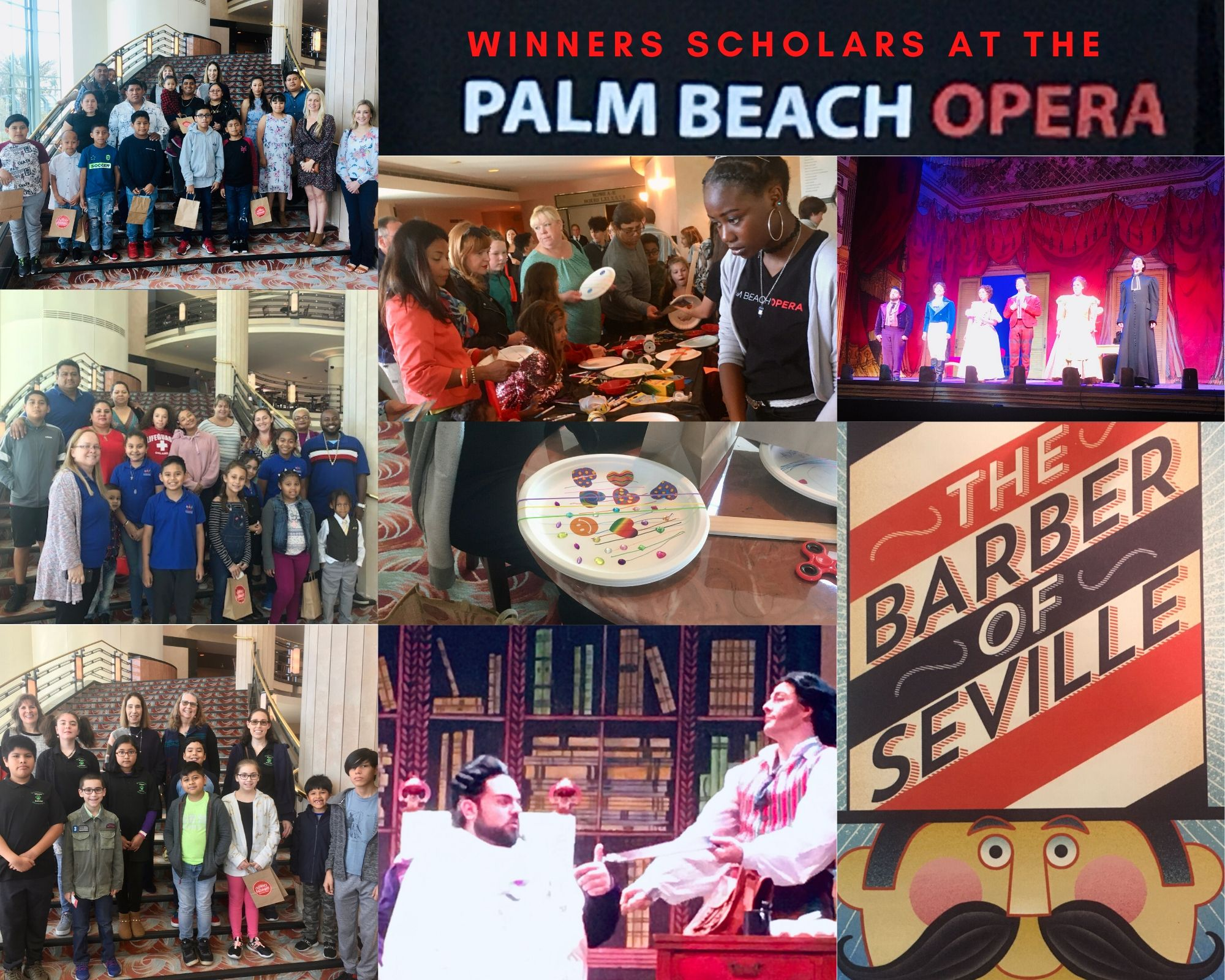 Winners Scholars Enjoy the Children's Performance at the Palm Beach Opera!