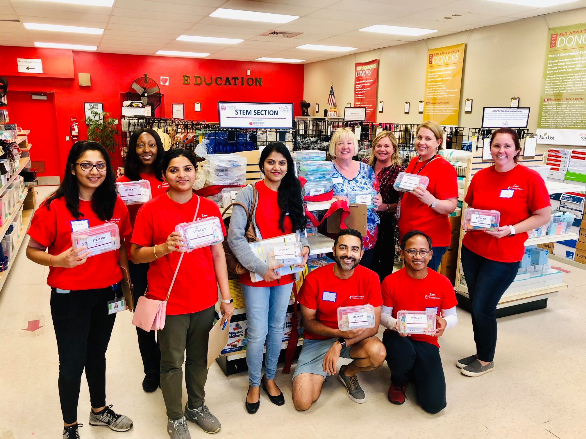 Volunteers from LexisNexis Risk Solutions at Red Apple Supplies