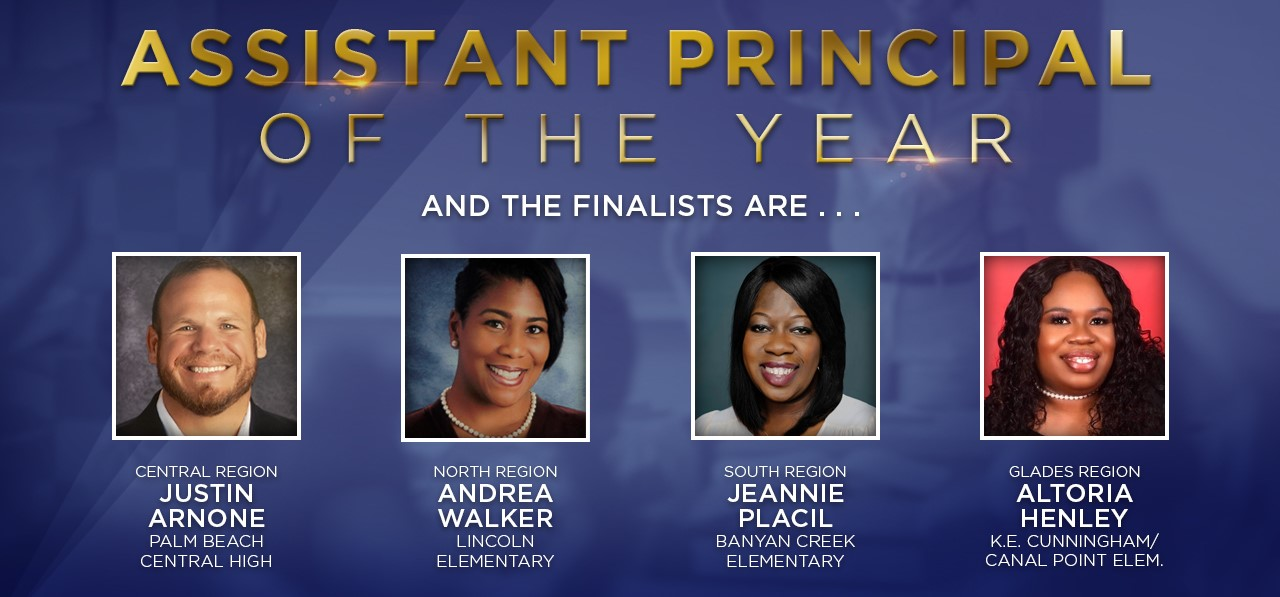 Assistant Principal of the Year Finalists names and photos