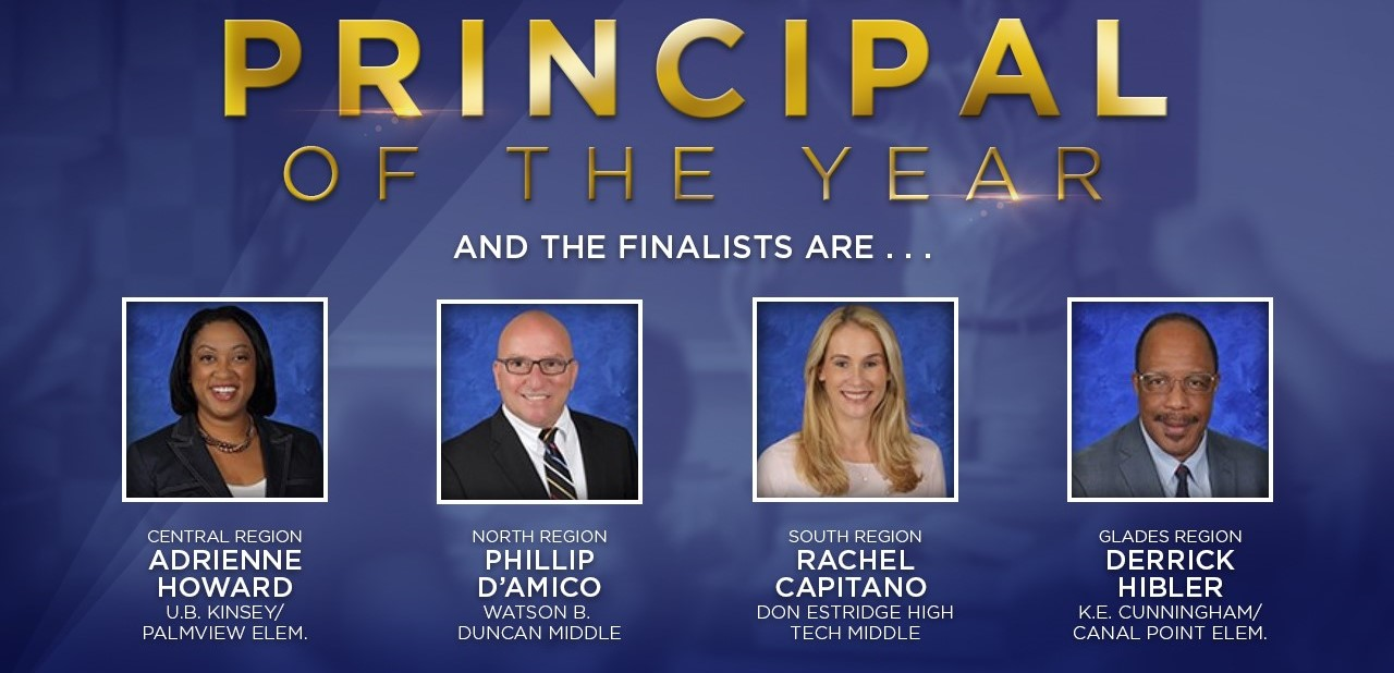 Principal of the Year Finalists names and photos